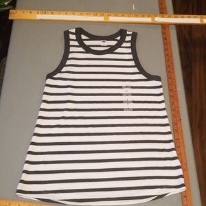 small grey & white striped tank
